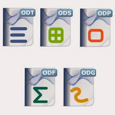 Formatos para las extensiones de los documentos ODS