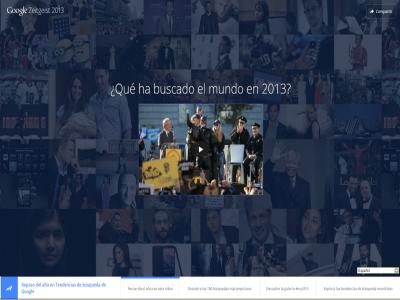 Sitio web de Google Zeitgeist 2013
