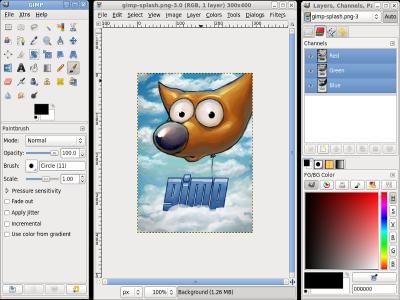 Interfaz GIMP