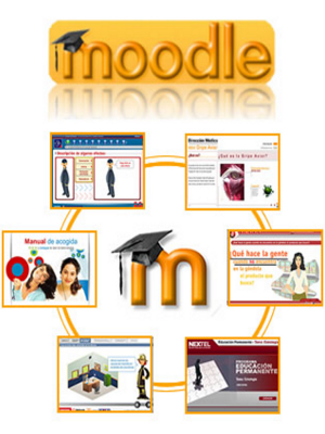 Moodle para aprendizaje virtual