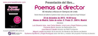 Presentación 'Poemas al director. 68 miradas críticas en tiempos de crisis'