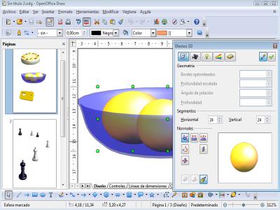 Ejemplo interfaz Draw de OpenOffice