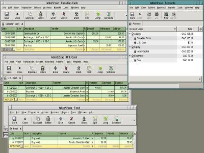 Ejemplo interfaz GnuCash de Ubuntu