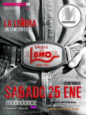 La Leñera en concierto | Tributo a LEÑO | 25-01-14
