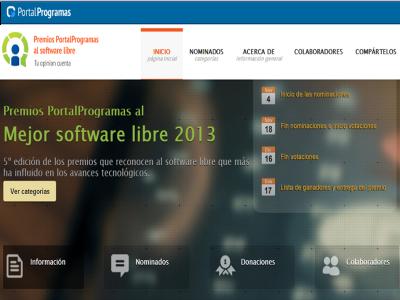 Premios PortalProgramas al Software Libre 2013