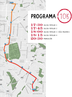 Recorrido San Silvestre Vallecana Popular 2013