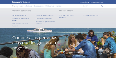 Página de Facebook para empresas (Facebook for business)