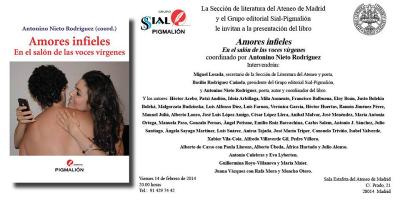 Presentación de 'Amores Infieles. En el salón de las voces vírgenes' en el Ateneo de Madrid