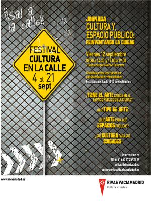 Jornada 'Cultura y espacio público: reinventando la ciudad' | Viernes 12 de septiembre de 2014 | Rivas Vaciamadrid | Comunidad de Madrid