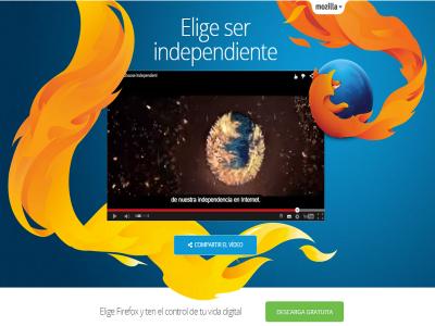Elige ser independiente. Elige Firefox y ten el control de tu vida digital