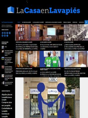 Pantallazo página de 'Inicio' del sitio web 'La Casa en Lavapiés'