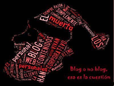 Papá Noel realizado con etiquetas y keywords | 'Blog o no blog, esa es la cuestión' | Creación propia con Tagxedo y GIMP