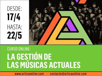 Curso en línea 'La Gestión de las Músicas Actuales' en Ártica Centro Cultural Online del 17 de abril al 22 de mayo de 2015